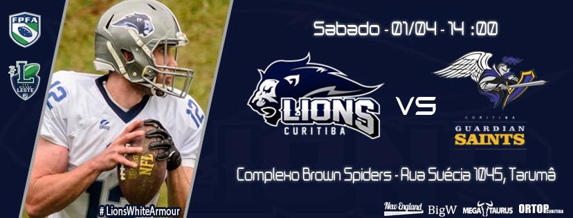 a5803d16ca Lions e Guardian Saints se enfrentam em Curitiba neste sábado – Futebol  Americano Paranaense